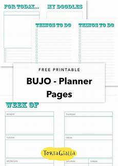Free Printable Planner Pages Free Printable Bujo Planner Pages Planning For The New