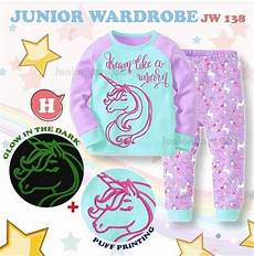 Unicorn Malvorlagen Terbaik Baju Piyama Anak Unicorn Glow In The Jw138h Babies