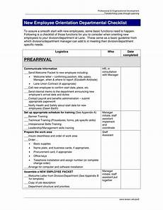 Sample New Hire Orientation Checklist 14 New Employee Orientation Program Checklist Pdf