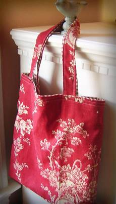 fabric crafts bag q made craft vintage fabric tote bag