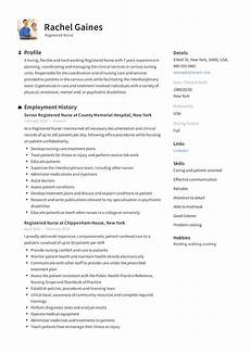 Nurse Resume Registered Nurse Resume Sample Amp Writing Guide 12