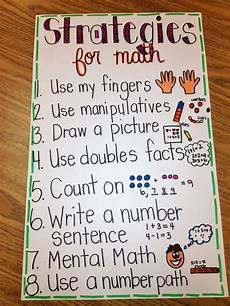 2nd Grade Math Strategies Anchor Chart First Grade Fresh Lots Of Randomness And Updates