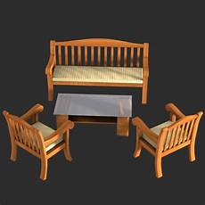 Sofa Slide Table 3d Image by 3d Model Wooden Table Sofa