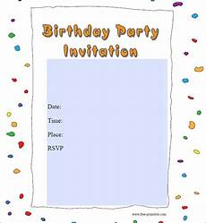 Free Online Party Invitations Templates Free 62 Printable Birthday Invitation Templates In Pdf