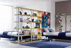 da letto con libreria divide a large room into two kid quot rooms quot with bookcase