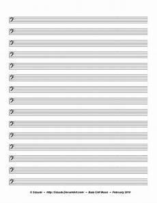 Blank Sheet Music Bass Clef Music Sheet Bass Clef By Sizuubi On Deviantart