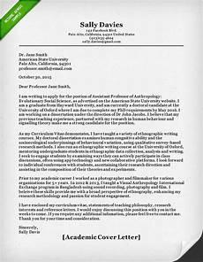 Academic Job Cover Letter Academic Cover Letter Sample Resume Genius