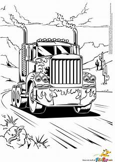 Malvorlagen Lkw Semi Truck Coloring Pages To And Print For Free