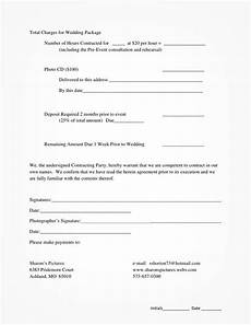 Free Wedding Contract Template 5 Free Wedding Photography Contract Templates