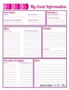Party Planning Templates Party Planning Organized With Free Printables With