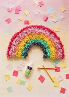 diy tissue paper rainbow the house that lars built