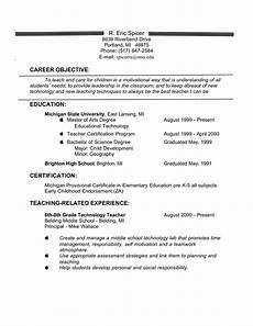 Resume Objective For Education Experienced Teacher Resume Objective Templates At
