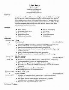 assistant cv sample personal assistant cv template cv samples amp examples