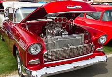motor in a hot rod muscle car image of show