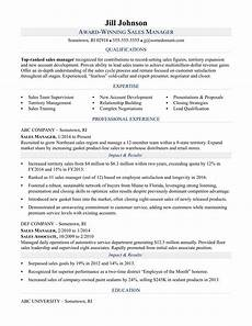 Example Of Sales Resumes Sales Manager Resume Sample Monster Com