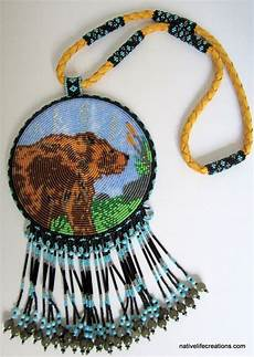 beaded totem necklace with images beading