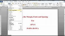What Is Apa Formating Apa 6 Setting Margins Fonts Spacing Youtube