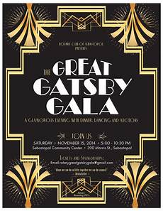 Great Flyers The Great Gatsby Gala Events Sonoma County Golocal