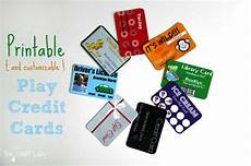 Credit Card Template For Kids Printable And Customizable Play Credit Cards The Crazy