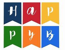 Printable Happy Birthday Banner Happy Birthday Banner Free Printable Paper Trail Design