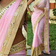 Light Green With Pink Saree Light Pink Saree With Golden Blouse Online Fashion