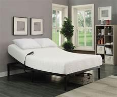 stanhope black king adjustable bed base from coaster
