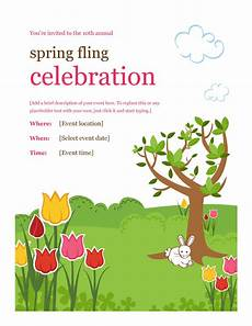 Spring Event Flyer Template 40 Amazing Free Flyer Templates Event Party Business