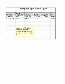 Fitness Log Example Exercise Log Example
