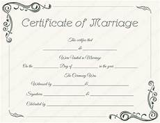 Fake Certificates To Print Standard Marriage Certificate Template Dotxes