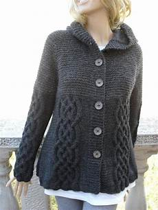 knit sweater womens cable knit jacket cardigan grey