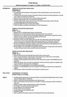 Collection Resume Examples Credit Amp Collection Resume Samples Velvet Jobs