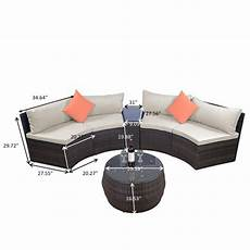 Wicker Sofa Outdoor Set Png Image by Topmax 6 Patio Furniture Sets Outdoor Half Moon