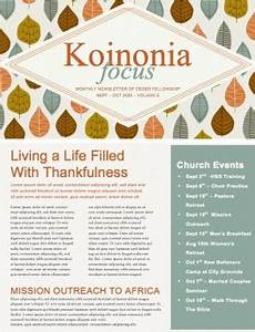 Thanksgiving Newsletter Template Free A Song Of Thanksgiving Christian Newsletter Template