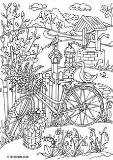 Printable Coloring Pages For Seniors Bicycle Printable Coloring Page From Favoreads