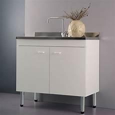 lavelli per cucina con mobile mobile sottolavello bianco100x50 cm con 2 ante per lavelli