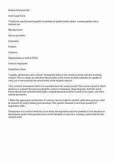 Notice Of Termination Of Contract Contract Termination Letter Template Business