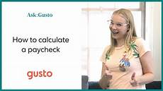 Calculate A Paycheck How To Calculate A Paycheck For Your Employees Youtube