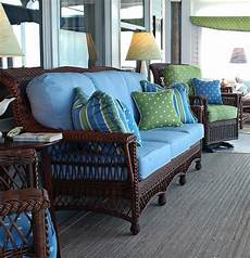 Brown Wicker Sofa 3d Image by Brown Wicker With Blue Cushions Brown Wicker Patio