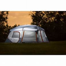 camping tent with built in lights ozark trail 10 person instant lighted cabin tent best