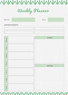 Weekly Monthly Planner Template Free Weekly Planner Template In Adobe Photoshop Adobe