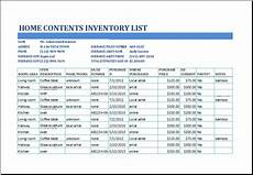Household Inventory Template Home Inventory Templates 10 Free Printable Excel Word