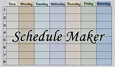 Schudule Maker Schedule Maker Free Class Amp College Schedule Maker