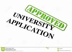 Getting Accepted To College University Application Approved Stock Image Image Of