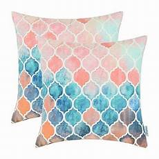 pack 2 calitime cushion covers throw pillow cases shells