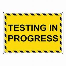 Training In Progress Sign Testing In Progress Sign Nhe 33197 Ybstr