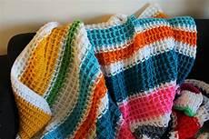 stitches blanket waffle stitch crochet tutorial lu strong free