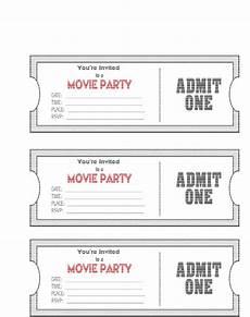 Ticket Invite Template Free Movie Ticket Template Cyberuse