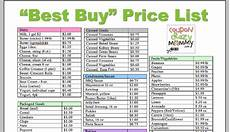 Grocery List Prices Calculator Coupon Crazy S Printable Quot Best Buy Quot Grocery Stock Up