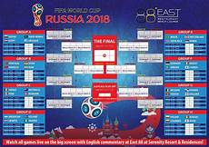 Fifa World Cup Russia Wall Chart 2018 Fifa World Cup Russia Live At East 88 Restaurant