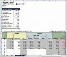 Net Present Value Calculator Net Present Value Calculator Net Present Value Excel